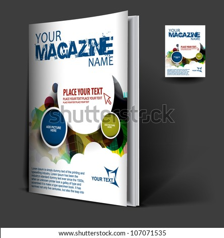 Presentation of brochure cover design template., vector illustration.
