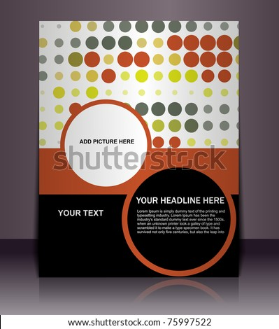 Presentation of flyer design content background. editable vector illustration