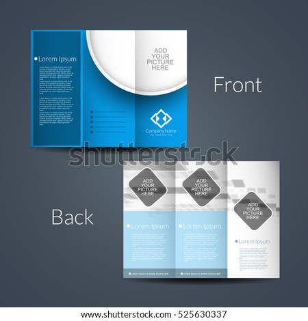 Presentation of modern Tri Fold brochure design template.