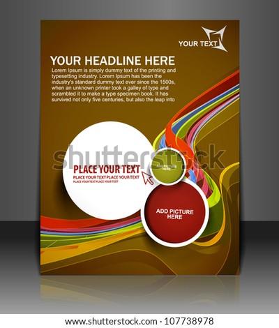 Presentation of Poster/flyer design content background. editable vector illustration