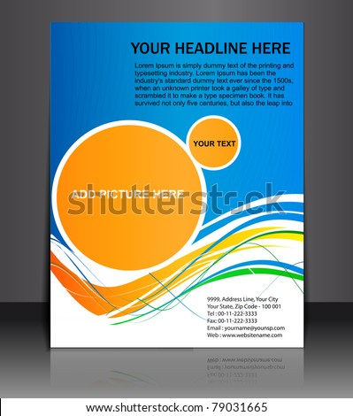 Presentation of Poster/flyer design content background. editable vector illustration