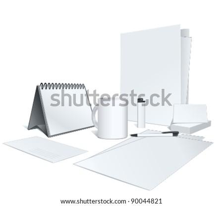 presentation of your corporate identity design. Vector illustration