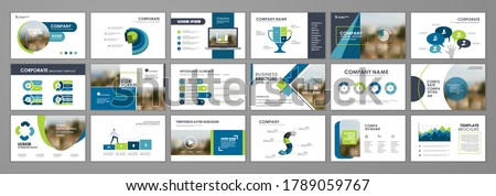 Presentation slide layout background.  Blue and orange design brochure template. Use in presentation, flyer, leaflet, banner, corporate report, annual report, marketing, advertising.