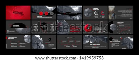 Presentation template. Elements for slide presentations on a white background. Use also as a flyer, brochure, corporate report, marketing, advertising, annual report, banner. Vector
