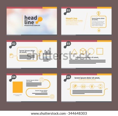 presentation template flat design set for brochure flyer marketing and advertising and iconâ?¨