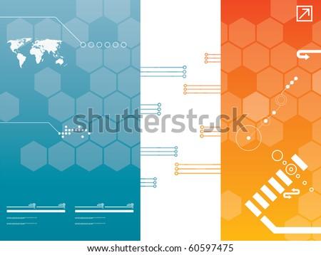 presentation template in vector
