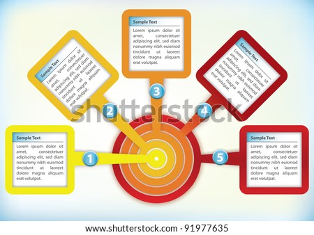 Presentation Template with four text boxes in a circle