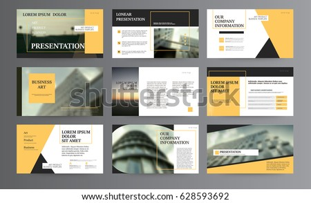 Presentation templates. Use in presentation, flyer and leaflet, corporate report, marketing, advertising, annual report, banner. modern style. Business template for brochure or booklet. #628593692