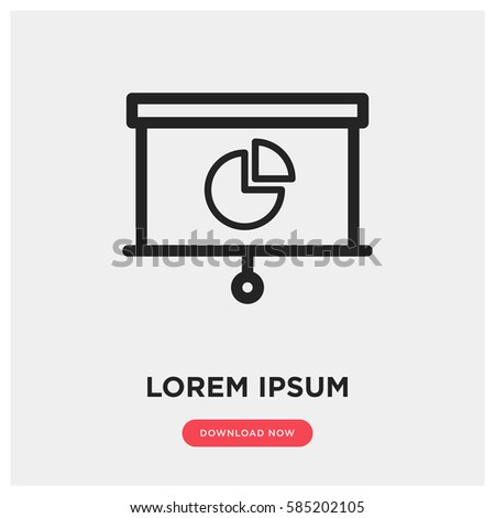 Presentation vector icon, infographic chart symbol. Modern, simple flat vector illustration for web site or mobile app