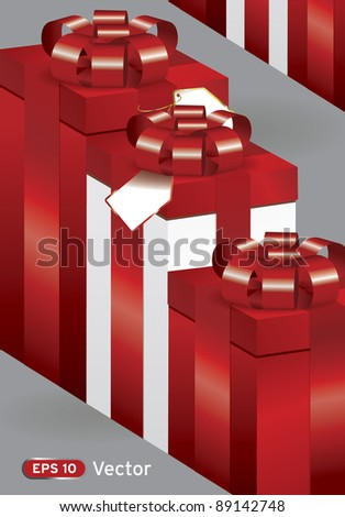 Presents gift box various sizes template vector