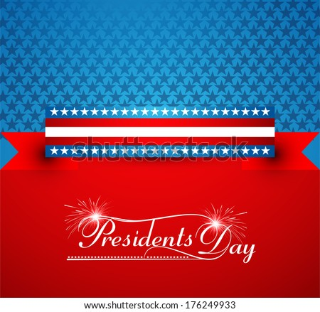 President Day in United States of America colorful background and other events Illustration vector