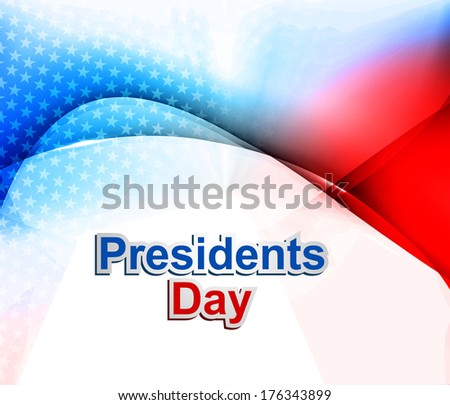 President Day in United States of America colorful wave vector illustration