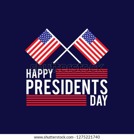 president day poster with red and blue design independence design day