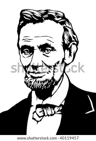 president lincoln illustration