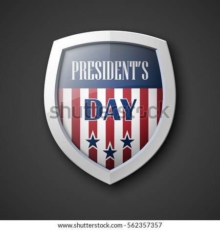 president's day shield banner