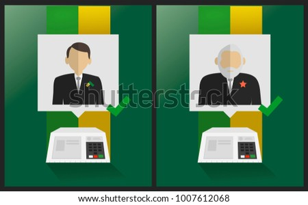 Presidential Candidates of Brazil -  Electronic urn elections