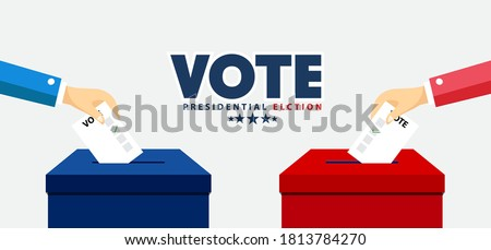 Presidential Election Banner Background for year 2020. American Election Stockfoto ©