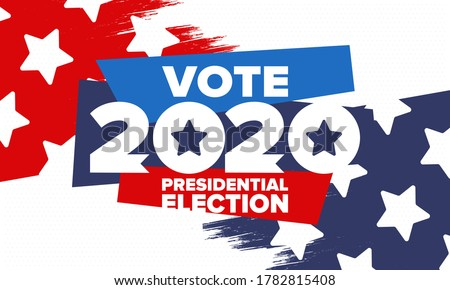 Presidential Election 2020 in United States. Vote day, November 3. US Election. Patriotic american element. Poster, card, banner and background. Vector illustration Stockfoto ©