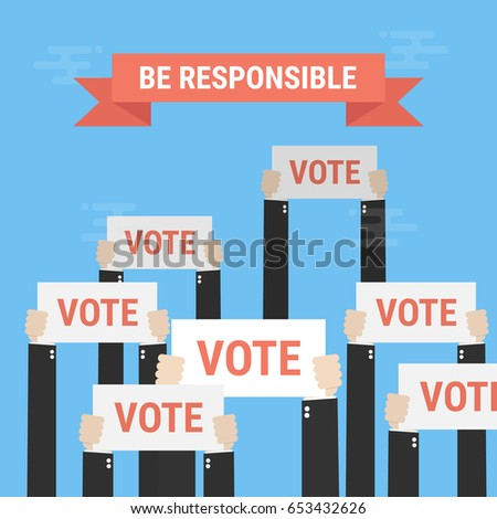 Presidential Election Voting Poster. Vote Concept. Vector Illustration.