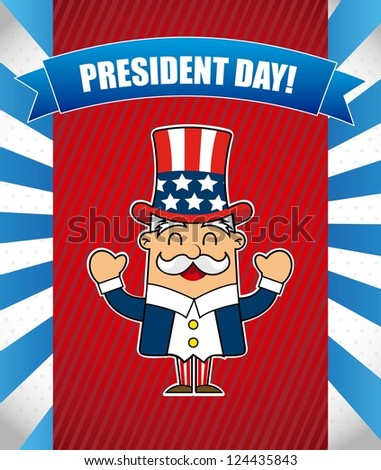 presidents day background, uncle sam. vector illustration