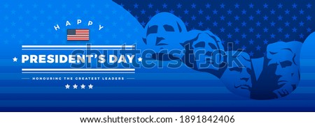 presidents day banner blue