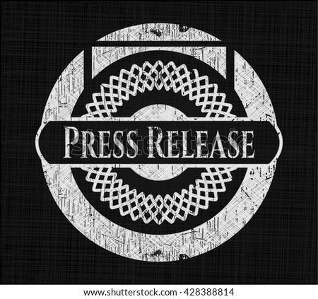 Press Release chalk emblem