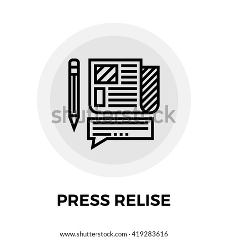 Press release icon vector. Flat icon isolated on the white background. Editable EPS file. Vector illustration.