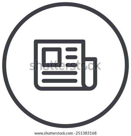Press Release, newspaper illustration, modern vector icon