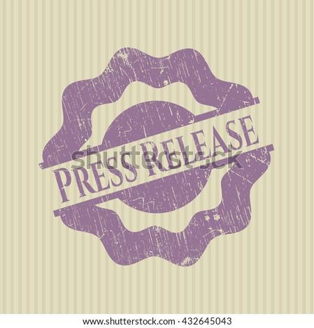 Press Release rubber stamp