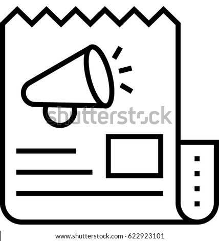 Press Release Vector Icon