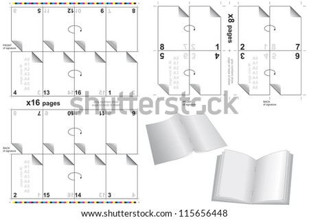 press templates for books and bulletins