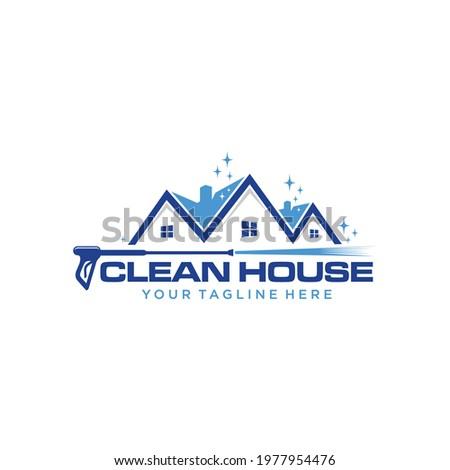 pressure wash home logo template