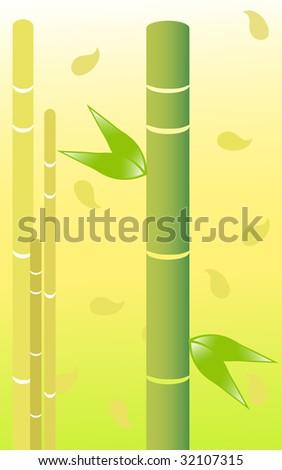 Pretty bamboo with yellow background.