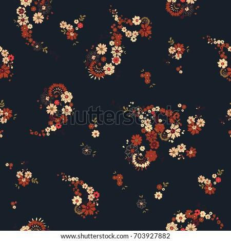 pretty boho floral paisley