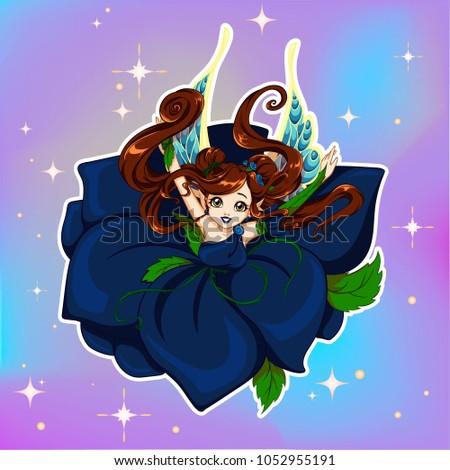 pretty cartoon fairy girl