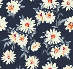 pretty daisy floral print ~ seamless background