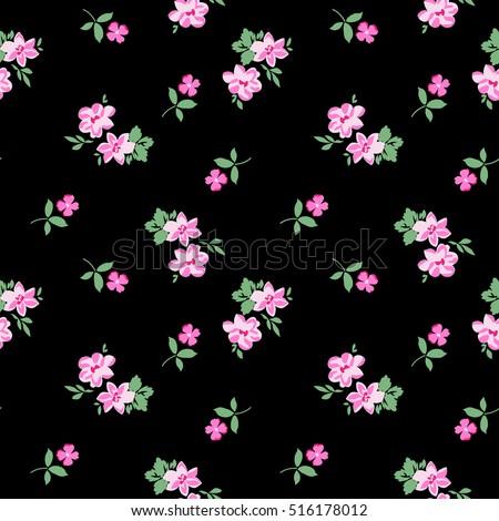 pretty ditsy flower print ~ seamless background