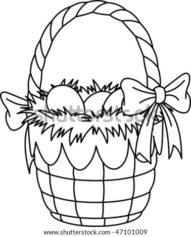 coloring pages for easter basket. Pretty Easter Basket C