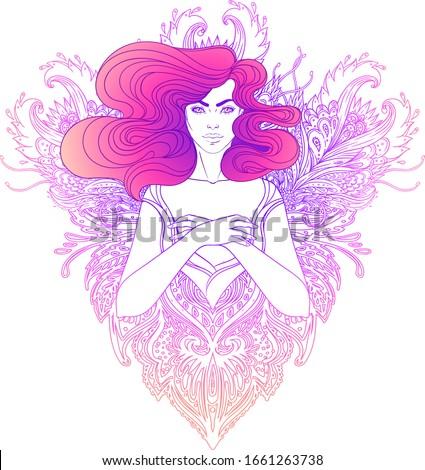 pretty fairy elf portrait of