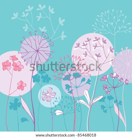 Pretty floral greeting card