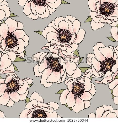 Pretty floral vector design for backgrounds, textile prints, fashion, web, wallpaper, etc. Seamless pattern.