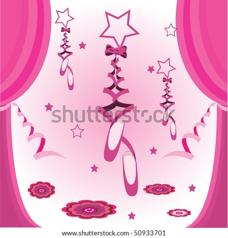 Pretty Pink Ribbon Pretty Pink Ballet Shoes With