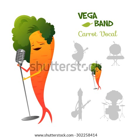 pretty red carrot character