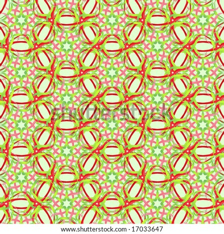 pretty red, green, and pink ribbons make up a seamless background pattern