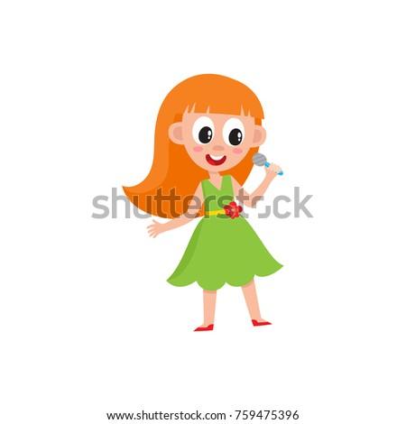 pretty redhead girl in green
