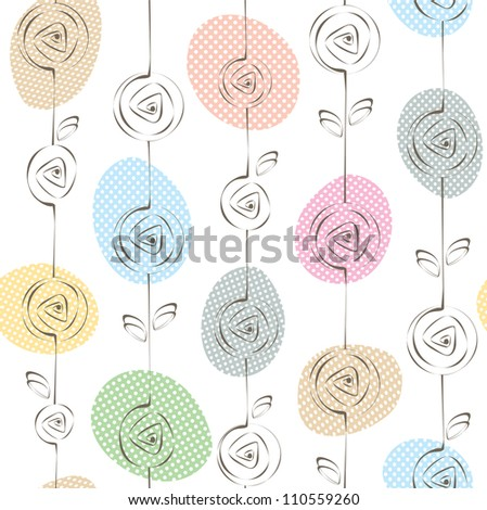 Pretty seamless floral pattern. Vector illustration - stock vector