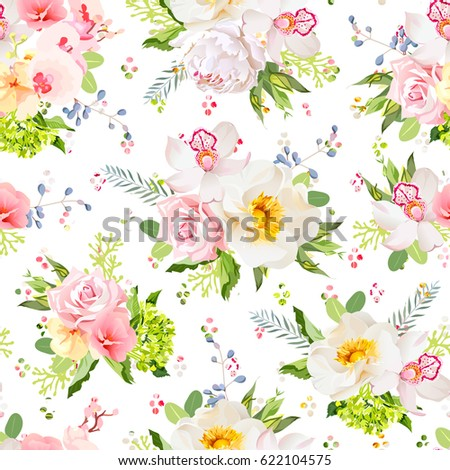 pretty summer garden seamless