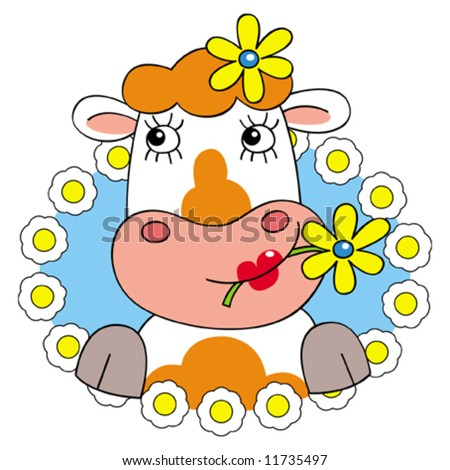 Cow Border http://www.shutterstock.com/pic-11735497/stock-vector-pretty-vector-cow-with-flowers-in-flowery-border.html
