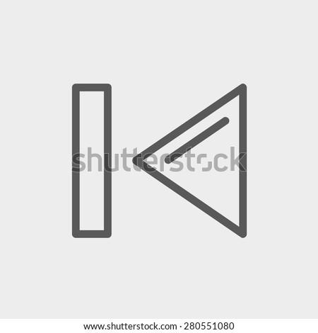 previous button icon thin line
