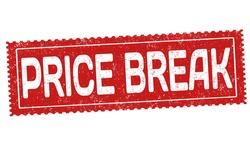 Price break grunge rubber stamp on white background, vector illustration